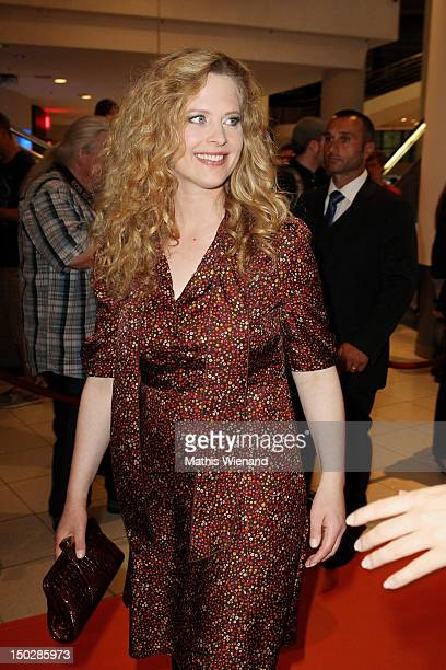 Diana Amft attends the 'Frisch Gepresst' Cologne Premiere on August 14 2012 in Cologne Germany