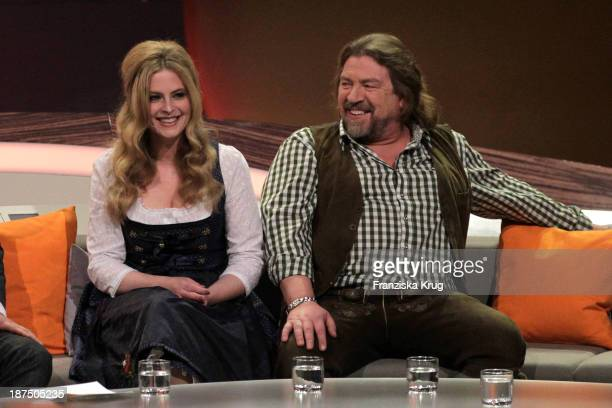 Diana Ampft and Armin Rohde attend Wetten dass tv show on November 09 2013 in Halle an der Saale Germany