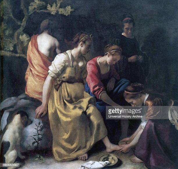 Diana and her Companions' by Johannes Vermeer 1656 Oil on canvas