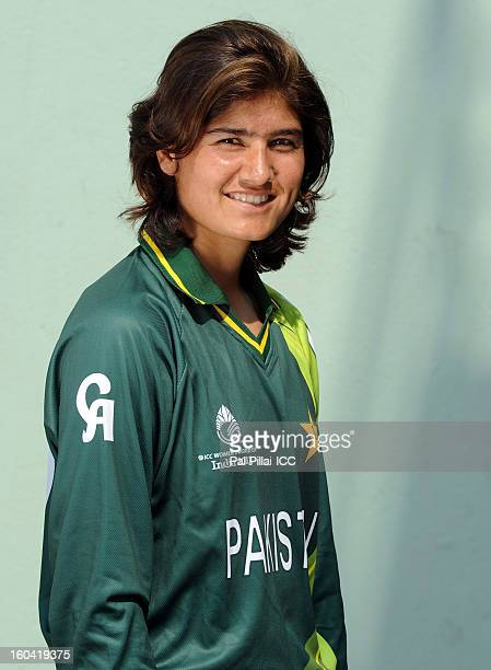 Diana Baig of Pakistan attends a portrait session ahead of the ICC Womens World Cup 2013 at the Barabati stadium on January 31 2013 in Cuttack India