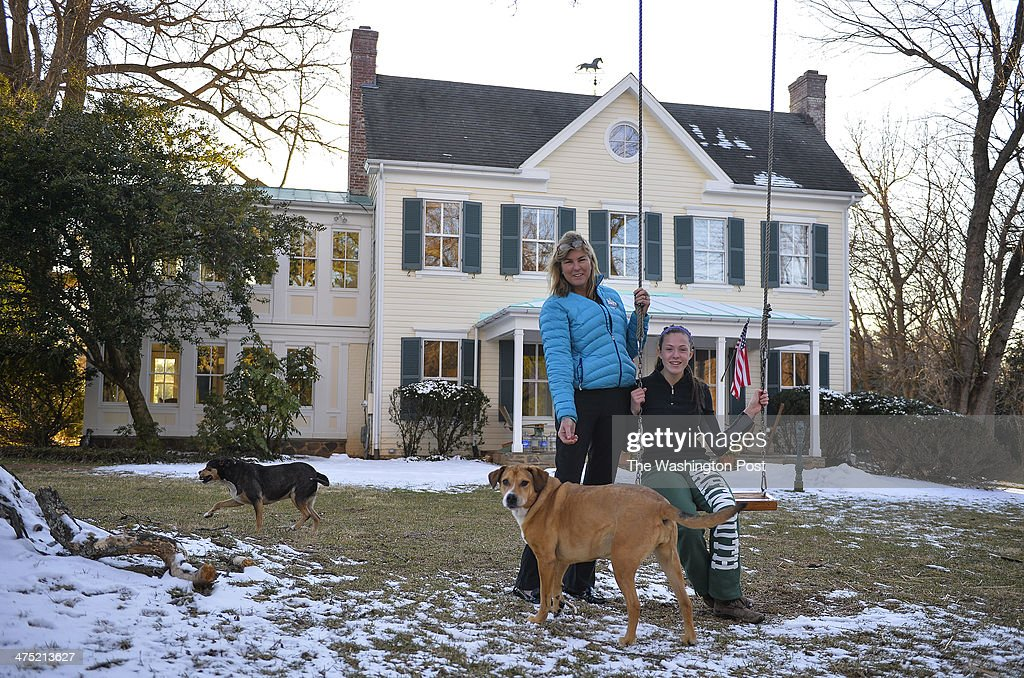 Diana Conway and her daughter Alexandra pose for a photo at there home which was used for several scenes in the Oscar nominated movie 'Philomena' on...