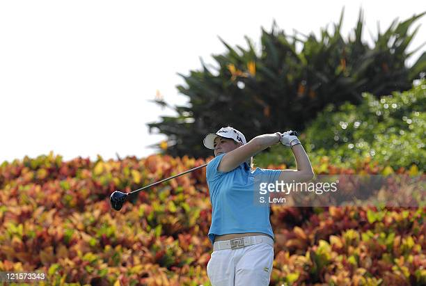 Diana D'Alessio during the second round of the ADT Championship at the Trump International Golf Club in West Palm Beach Florida on Friday November 17...