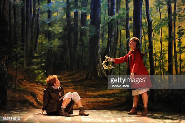 Diana Damrau and Angelika Kirchschlager perform in the Royal Opera's production of Engelbert Humperdinck's ' Hansel und Gretel' directed by Moshe...