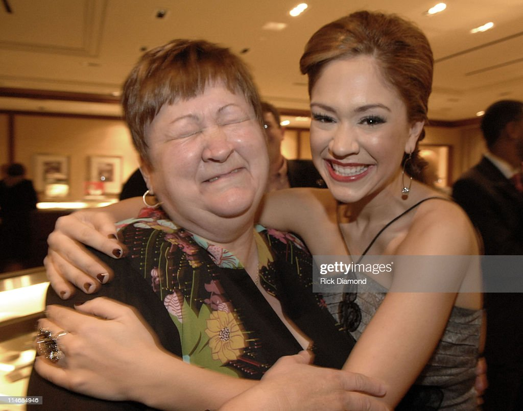 Diana DeGarmo and Her Mom during Georgia GRAMMY Nominees Honored by the Recording Academy and Tiffany Co at Tiffany Co in Atlanta Georgia United...