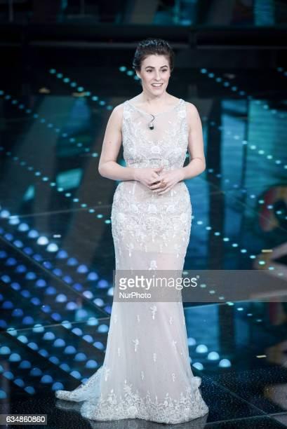 Diana Del Bufalo attends the closing night of 67th Sanremo Festival 2017 at Teatro Ariston on February 11 2017 in Sanremo Italy