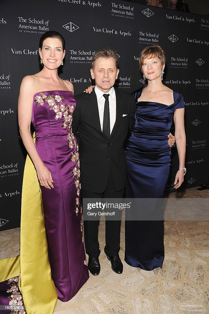 Diana DiMenna, <a gi-track='captionPersonalityLinkClicked' href=/galleries/search?phrase=Mikhail+Baryshnikov&family=editorial&specificpeople=204507 ng-click='$event.stopPropagation()'>Mikhail Baryshnikov</a> and Lisa Rinehart attend the 2013 School Of American Ballet Winter Ball: A Night In The Far East at David H. Koch Theater, Lincoln Center on March 11, 2013 in New York City.