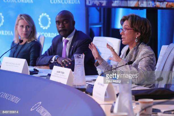Diana Doukas Director Social Responsibility Libra Group Michael Blake Assemblyman of the 79th District in New York State and Laura Tyson...
