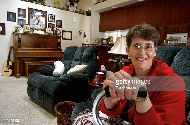 Diana Greene of Tumwater Washington relaxes at home after having surgery to correct a nerve disorder called trigeminal neuralgia