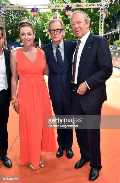 Diana Iljine actor Bill Nighy and Dr Herbert Kloiber during premiere of 'Ihre Beste Stunde' as closing movie of Munich Film Festival 2017 at Gasteig...