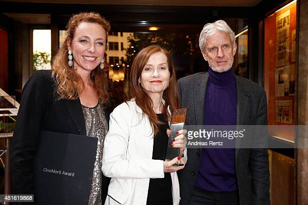 Diana Iljine Isabelle Huppert and Mathieu Carriere attend the Cine Merit Award as part of Filmfest Muenchen at Sendlinger Tor on July 2 2014 in...
