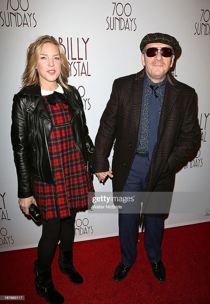 Diana Krall and Elvis Costello attend the 'Billy Crystal - 700 Sundays' Broadway Opening Night at the Imperial Theatre on November 13, 2013 in New York City.