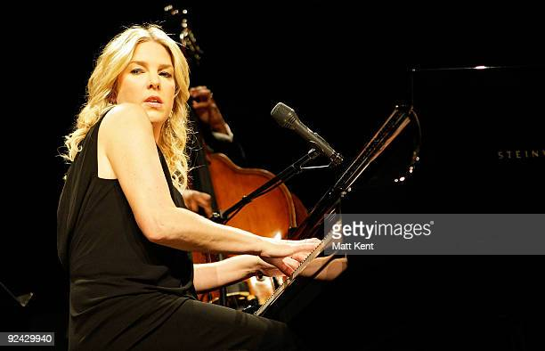 Diana Krall performs at the Royal Albert Hall on October 28 2009 in London England