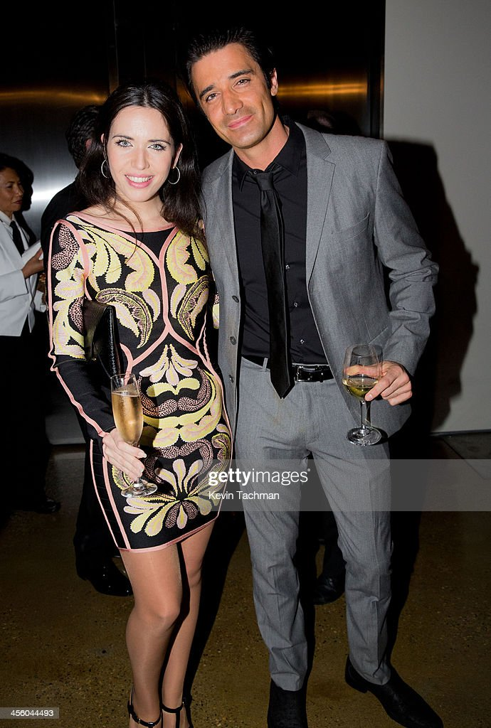 Diana Lado and Gilles Marini attend the 2013 amfAR Inspiration Gala Los Angeles at Milk Studios on December 12, 2013 in Los Angeles, California.