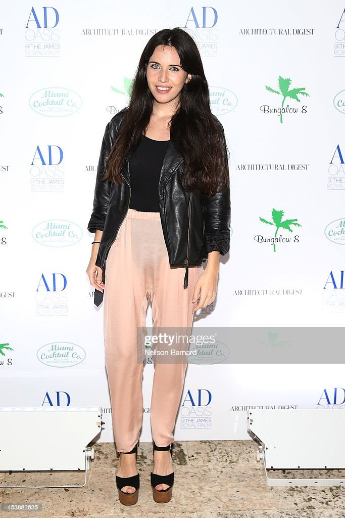 Diana Lado attends AD Oasis And Amy Sacco Host Bungalow 8 Party at James Royal Palm Hotel on December 5, 2013 in Miami Beach, Florida.
