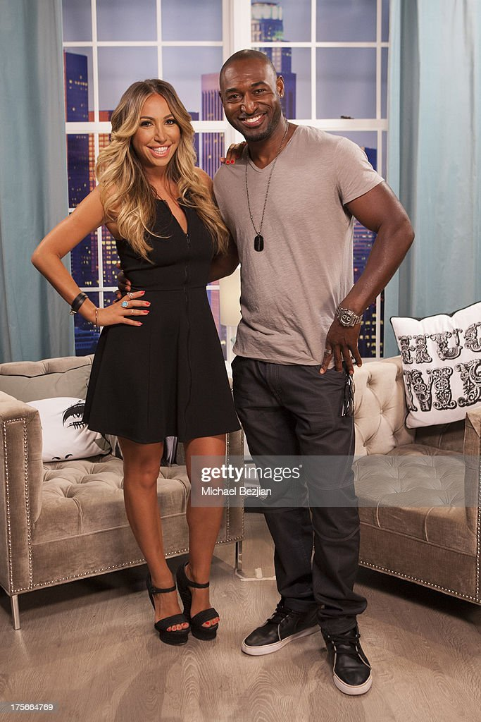 Diana Madison and Adrian Holmes appear on Diana Madison's 'AOL LOWDOWN' on August 5, 2013 in Hollywood, California.