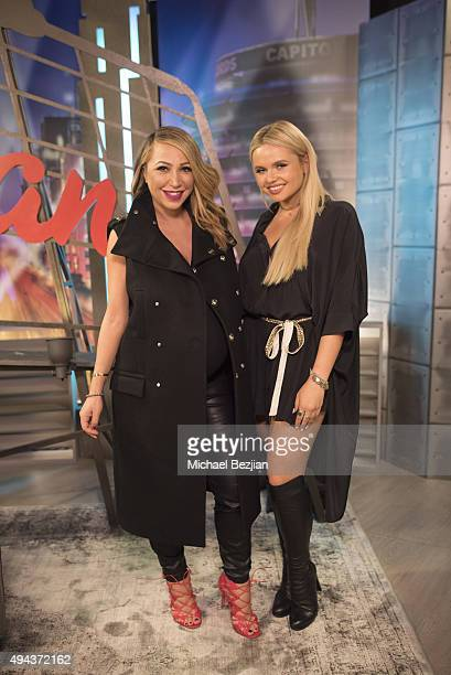 Diana Madison and Alli Simpson on the set at The Lowdown With Diana Madison on October 26 2015 in Hollywood California