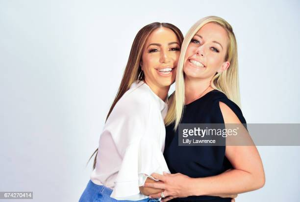 Diana Madison and Kendra Wilkinson pose at Kendra Wilkinson appears on 'The Lowdown With Diana Madison' on April 27 2017 in Hollywood California