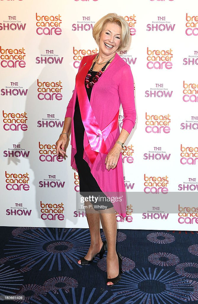 Diana Moran arriving at the afternoon performance of the Breast Cancer Care Fashion Show at Grosvenor House, on October 2, 2013 in London, England.
