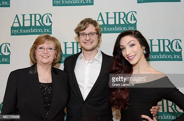 Diana Munson the widow of Thurman Munson Charlie White and Meryl Davis attend the 5th Annual Thurman Munson Awards Dinner at Grand Hyatt New York on...