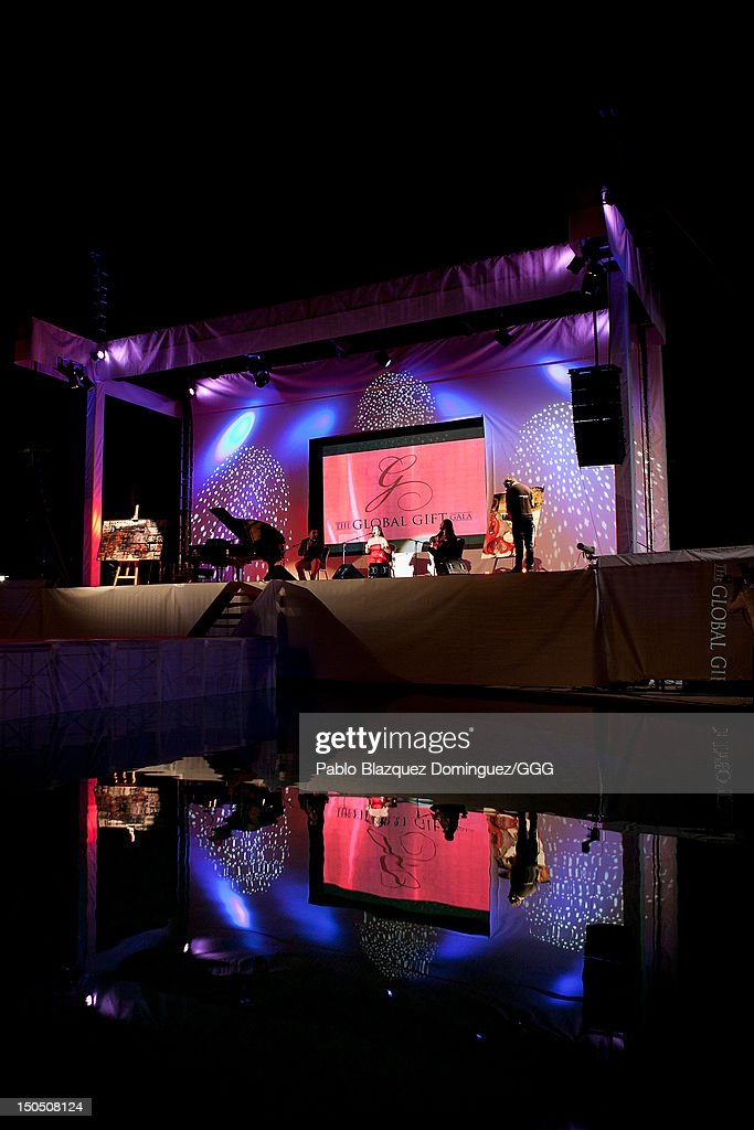 Diana Navarro performs live on stage during the Global Gift Gala held to raise benefits for Cesare Scariolo Foundation and Eva Longoria Foundation on August 19, 2012 in Marbella, Spain.