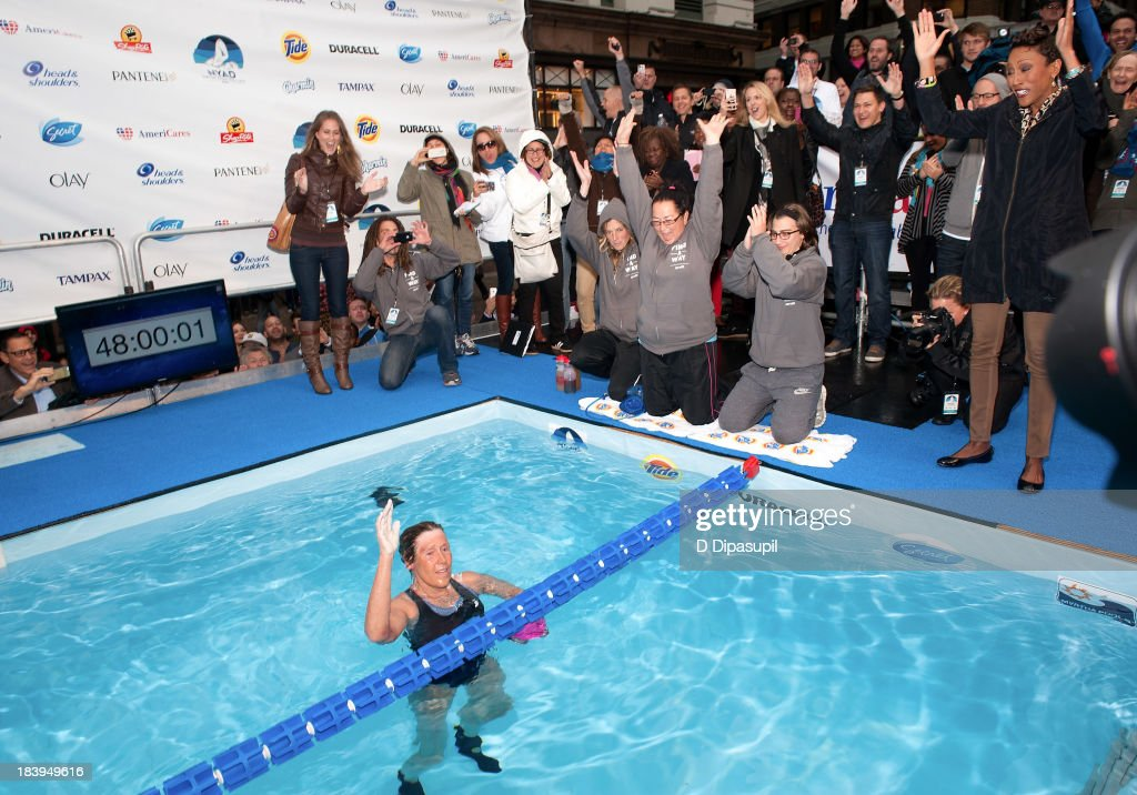 Diana Nyad attends the 'Swim for Relief' Benefiting Hurricane Sandy Recovery at Herald Square on October 10 2013 in New York City