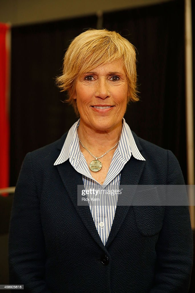 Diana Nyad poses in the trade show during the 2014 Texas Conference For Women at Austin Convention Center on November 13 2014 in Austin Texas