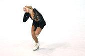 Diana Pervushkina of Russia skates during the junior ladies short dance of the ISU Junior Grand Prix at Dom Sportova on October 8 2015 in Zagreb...