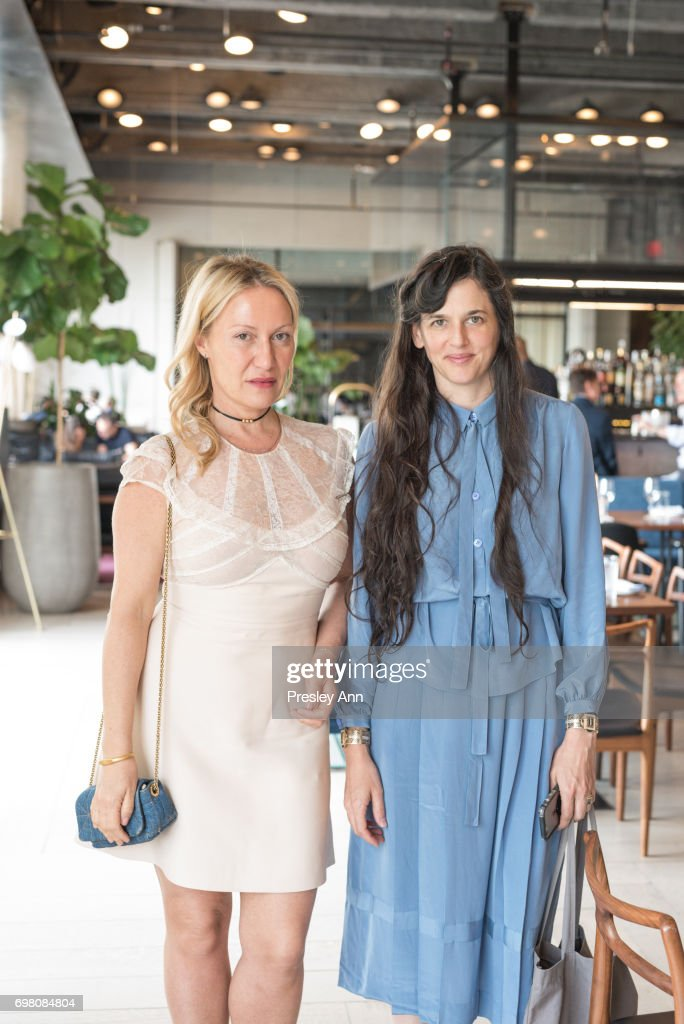 Diana Picasso and Taryn Simon attend Special Women's Power Lunch Hosted by Tina Brown at Spring Place on June 19, 2017 in New York City.