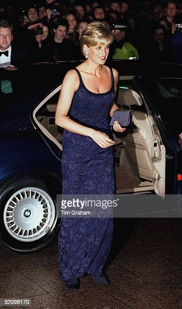 Diana Princess Of Wales Alighting Her Car On Arrival At The Premiere Of The Film 'in Love And War' At The Empire In Leicester Square In Aid Of The...