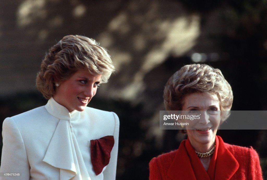 Diana, Princess of Wales and Nancy Reagan visit a drug rehabilitation centre on November 11, 1985 in Washington, USA.