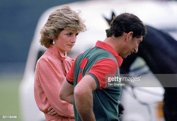 Diana Princess Of Wales And Prince Charles At Smith's Lawn Polo Club