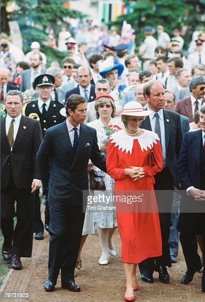 Diana Princess of Wales and Prince Charles Prince of Wales visiting Canada during Diana's first overseas tour