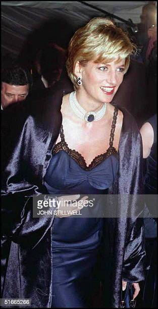 Diana Princess of Wales arrive's at the Metropolitan Museum of Art in New York for the Costume Institute Ball this Evening