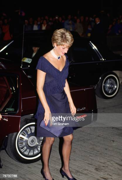 Diana Princess of Wales arrives at the National Arts Centre in Ottawa Canada