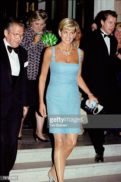 Diana Princess of Wales as Patron of the English National Ballet attends their Royal Gala performance of 'Swan Lake' at London's Royal Albert Hall...
