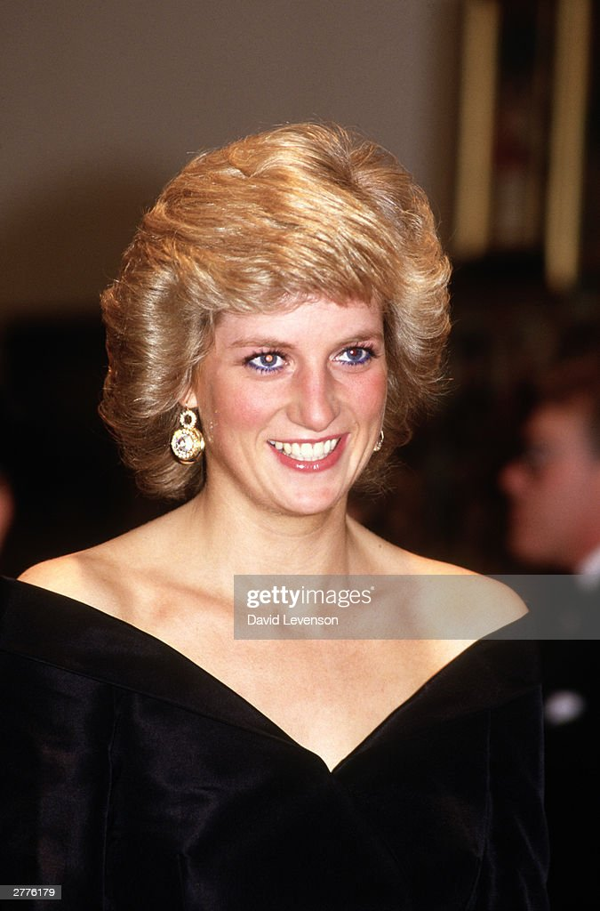 Diana Princess of Wales at a fashion show at the Cologne Museum of Art in Cologne, Germany in November 1987, during the Royal Tour of Germany.