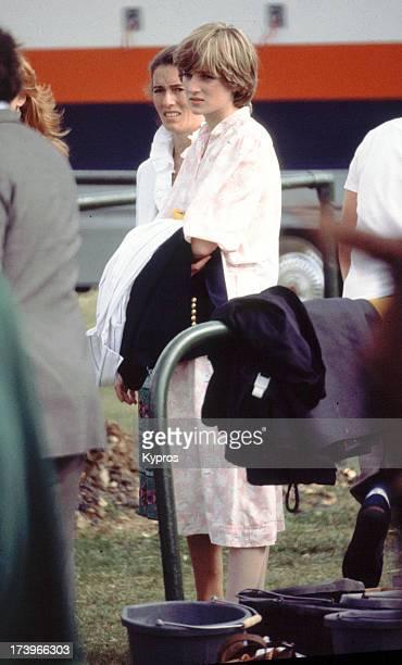 Diana Princess of Wales at a polo match circa 1981