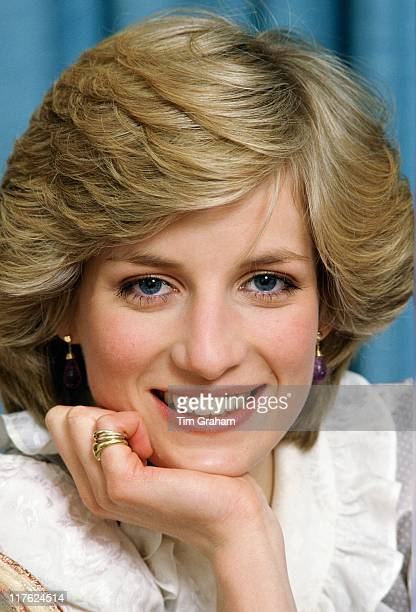 Diana Princess of Wales at her home in Kensington Palace on February 1 1983 in London England On July 1st Diana Princess Of Wales would have...