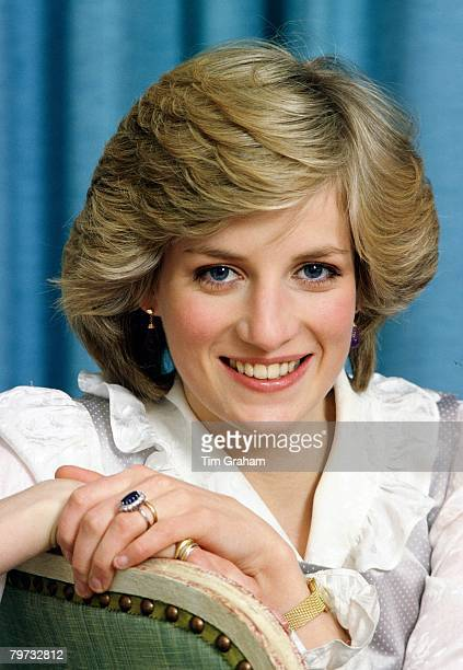 Diana Princess of Wales at home in Kensington Palace
