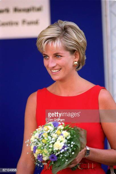 Diana Princess Of Wales At Northwick Park St Mark's Hospital In Harrow Middlesex To Lay The Foundation Stone For The New Children's Ambulatory Care...