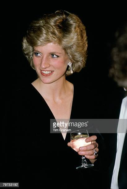 Diana Princess of Wales at the Barbican Theatre for 'Les Miserables'