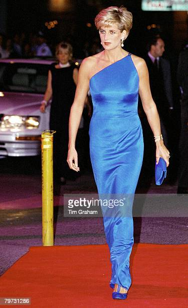 Diana Princess of Wales at the Victor Chang Cardiac Research Institute dinner dance at the Sydney Entertainment Centre Australia
