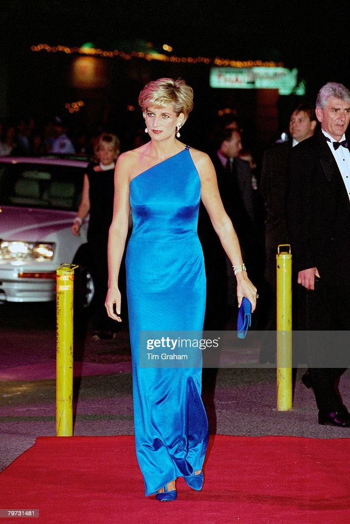 Diana, Princess of Wales at the Victor Chang Cardiac Research Institute dinner dance at the Sydney Entertainment Centre, Australia