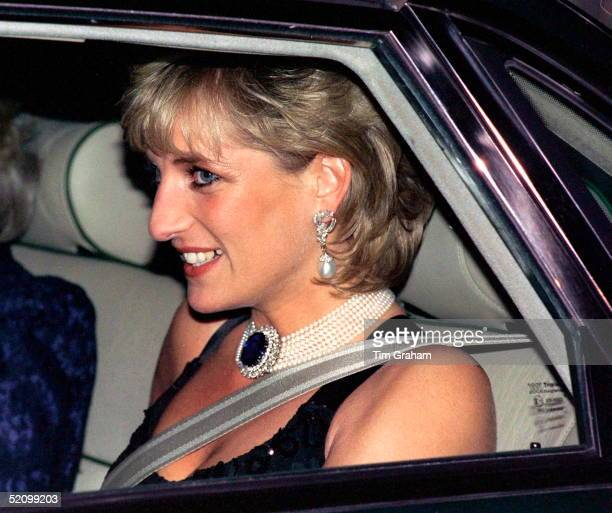 Diana Princess Of Wales Attending A Gala Evening In Aid Of Cancer Research At Bridgewater House London Sw1