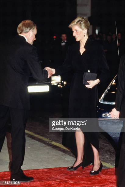 Diana Princess of Wales attends a gala in aid of The Prince's Trust at the London Palladium on April 20 1989 in London England
