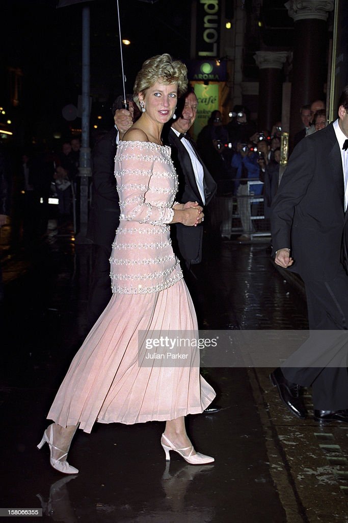 Diana, Princess Of Wales, Attends A Performance Of ' La Boheme, At The London Coliseum.
