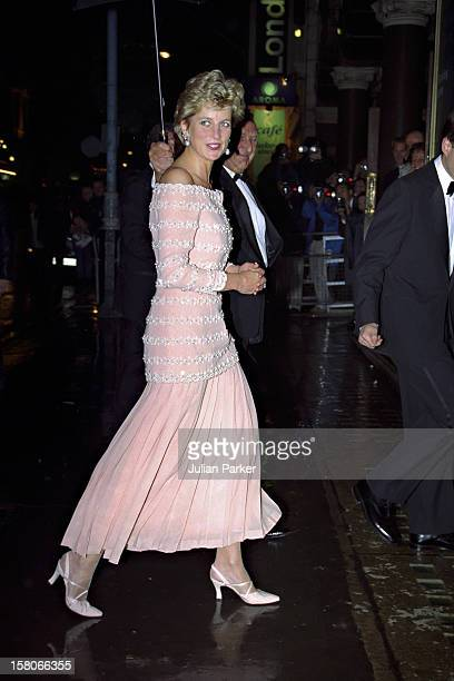 Diana Princess Of Wales Attends A Performance Of ' La Boheme At The London Coliseum