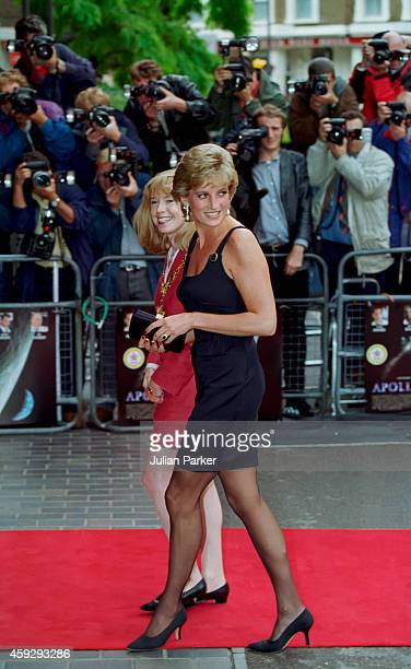 Diana Princess of Wales attends a Screening of Apollo 13 in London on September 7 1995 in London United Kingdom