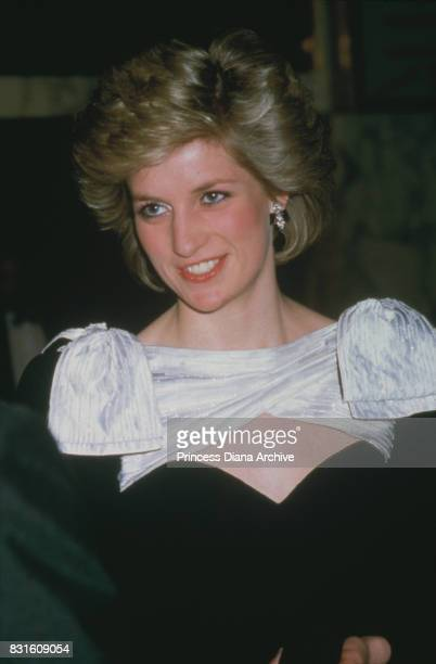 Diana Princess of Wales attends 'Out of Africa' film premiere at Empire Cinema in Leicester Square London 4th March 1986