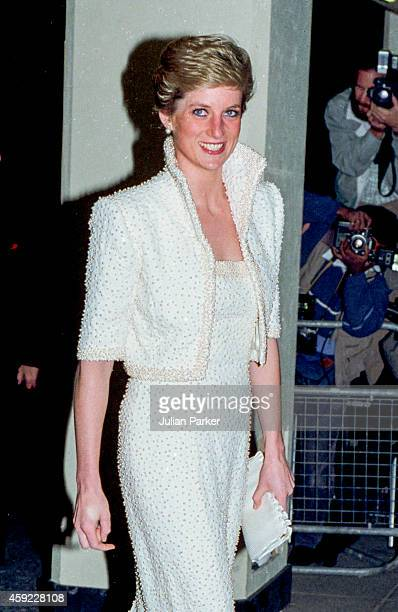 Diana Princess of Wales attends The British Fashion Awards at The Royal Albert Hall on October 17 1989 in London United Kingdom